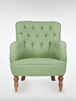 roomeo24® Designer Retro Sessel | LELAND | 78 x 100 x 90 cm (BxHxT) | Loungesessel in petrol-gruen -