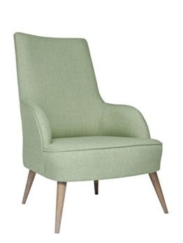 roomeo24® Designer Retro Sessel | LONG-ISLAND | 69 x 107 x 89 cm (BxHxT) | Loungesessel in petrol-gruen -