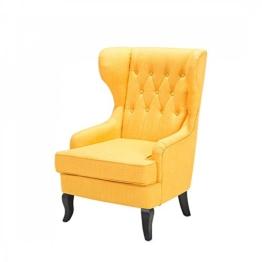 Sessel Gelb - Ohrensessel - Relaxsessel - Fernsehsessel - Polstersessel - MOLDE -